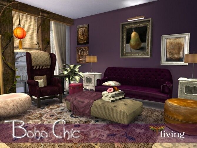 Boho Chic Living by fredbrenny at TSR image 4621 670x503 Sims 4 Updates