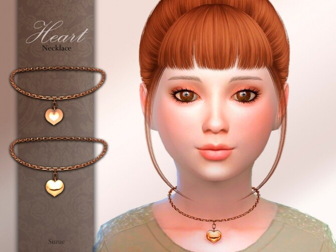 Sims 4 Heart Child Necklace by Suzue at TSR