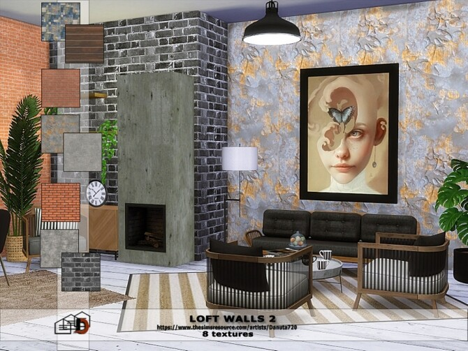 Loft walls 2 by Danuta720 at TSR image 466 670x503 Sims 4 Updates