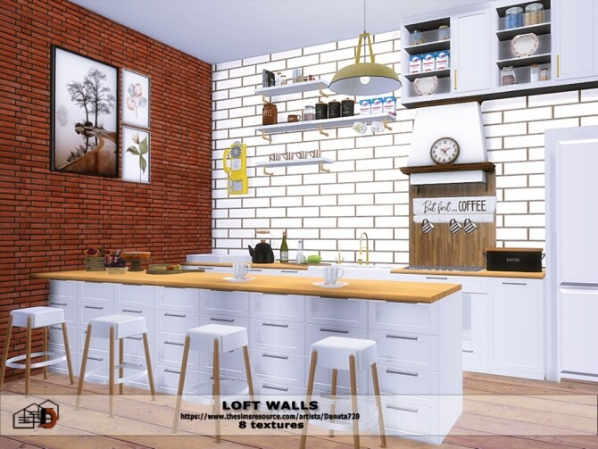 Loft walls by Danuta72 at TSR image 471 670x503 Sims 4 Updates