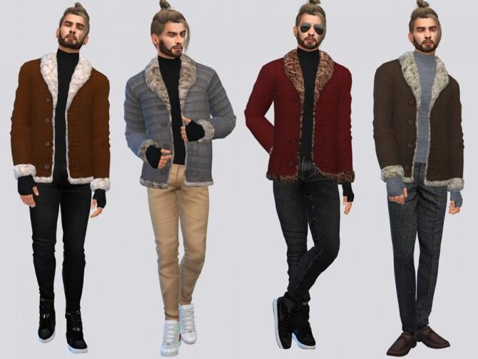 Sims 4 Jacob Shearling Jacket by McLayneSims at TSR
