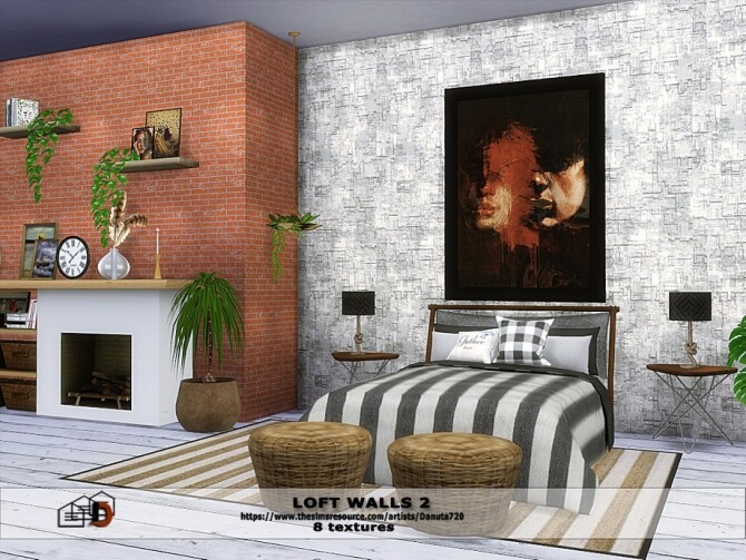 Loft walls 2 by Danuta720 at TSR image 476 670x503 Sims 4 Updates