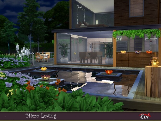 Sims 4 Micro Loving Home by evi at TSR