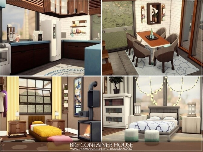 Sims 4 Big Container House by MychQQQ at TSR