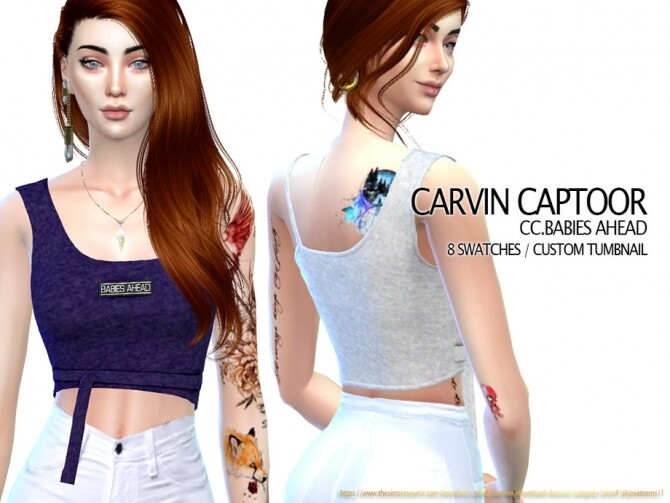 Sims 4 Babies ahead top by carvin captoor at TSR