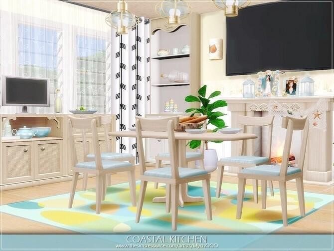 Sims 4 Coastal Kitchen by MychQQQ at TSR