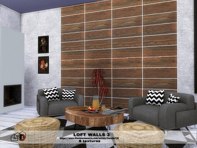 Loft walls 2 by Danuta720 at TSR image 496 670x503 Sims 4 Updates