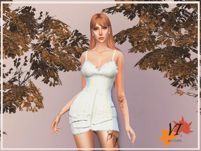 Sims 4 Dress VI Autumn VI by Viy Sims at TSR