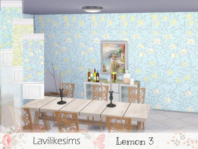 Sims 4 Lemon 3 walls by lavilikesims at TSR