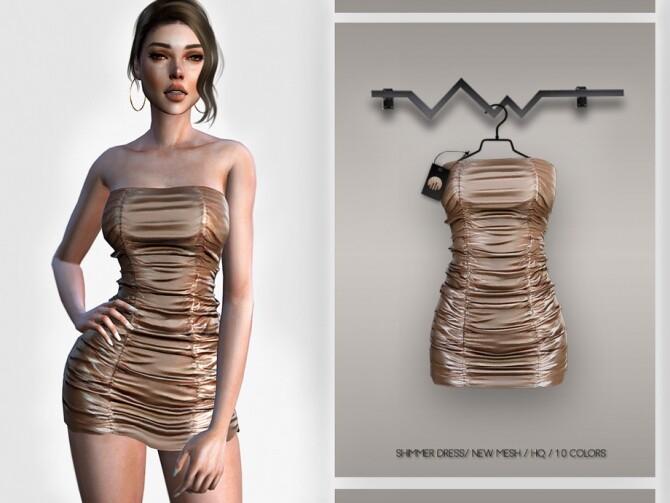 Sims 4 Shimmer Dress BD340 by busra tr at TSR