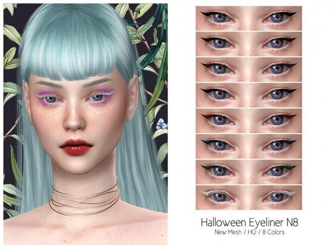 Sims 4 Halloween Eyeliner N8 HQ by Lisaminicatsims at TSR