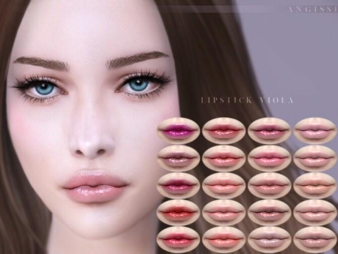 Sims 4 Lipstick Viola by ANGISSI at TSR