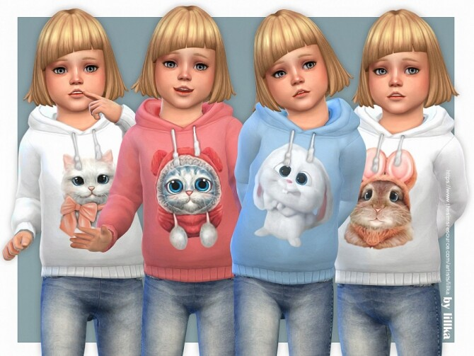 Hoodie for Toddler Girls P09 by lillka at TSR image 53 670x503 Sims 4 Updates