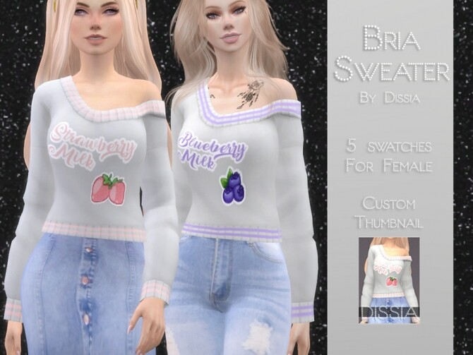 Sims 4 Bria Sweater by Dissia at TSR