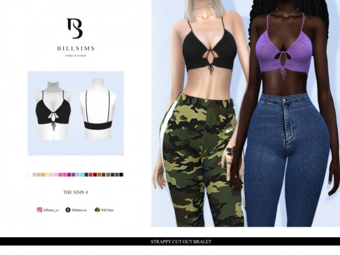Strappy Cut Out Bralet by Bill Sims