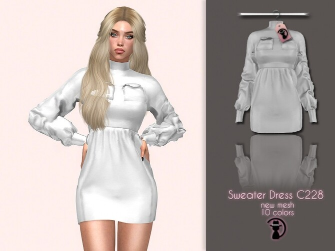 Sweater Dress C228 by turksimmer at TSR image 5315 670x503 Sims 4 Updates