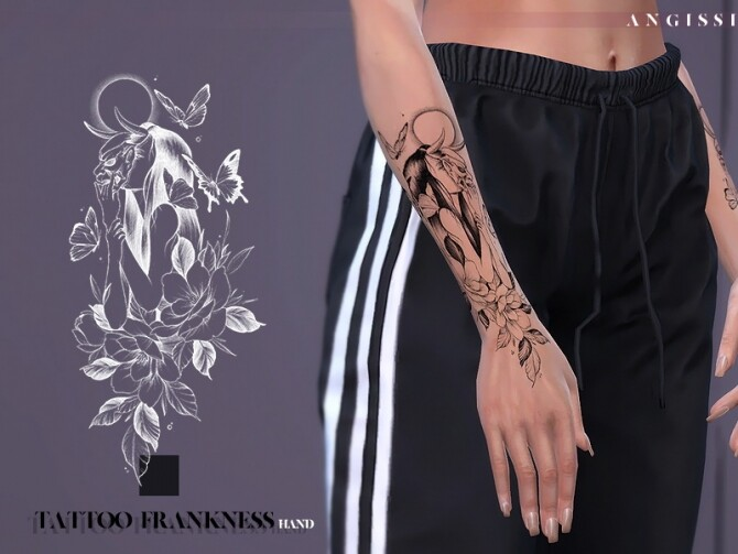 Frankness hand tattoo by ANGISSI at TSR image 536 670x503 Sims 4 Updates