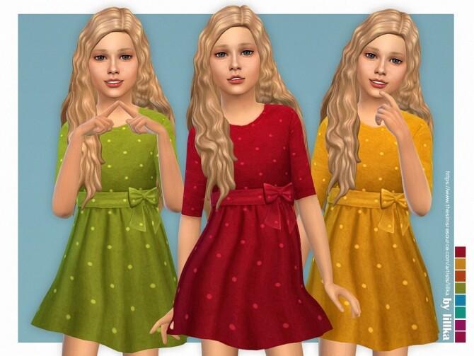 Sims 4 Dina Dress by lillka at TSR