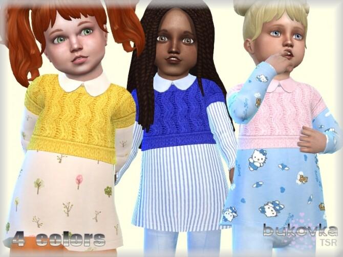 Sims 4 Top Baby Girl by bukovka at TSR