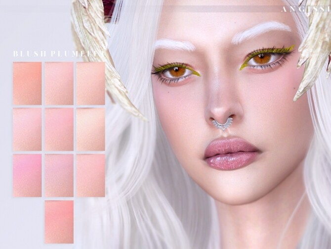 Sims 4 Plumelet Blush by ANGISSI at TSR