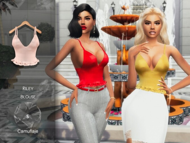 Sims 4 Riley Blouse by Camuflaje at TSR