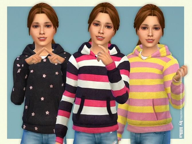Sims 4 Hoodie for Girls P11 by lillka at TSR