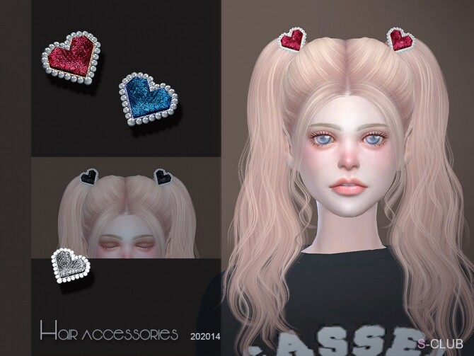 Sims 4 Heart Hair Accessories 202014 by S Club LL at TSR