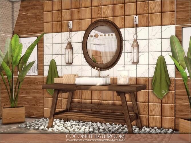Sims 4 Coconut Bathroom by MychQQQ at TSR