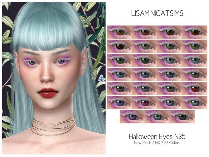 Sims 4 LMCS Halloowen Eyes N35 HQ by Lisaminicatsims at TSR