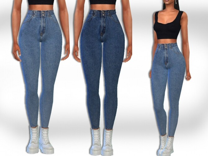 High Waist Fit Jeans by Saliwa at TSR image 5716 670x503 Sims 4 Updates