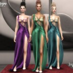 Zendaya long slit gala dress by jomsims