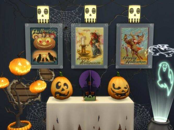Vintage Halloween Set by spitzmagic