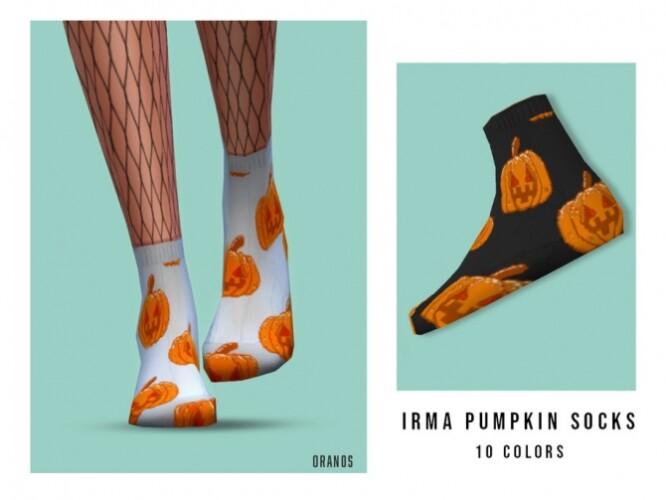 Irma Pumpkin Socks by OranosTR