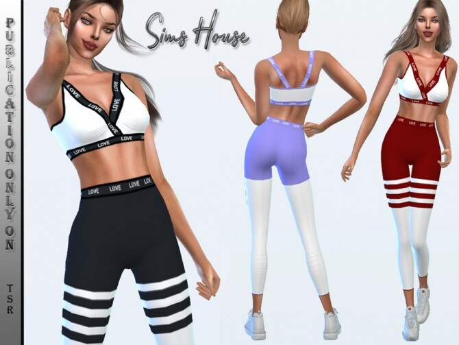 Sims 4 Yoga suit leggings by Sims House at TSR