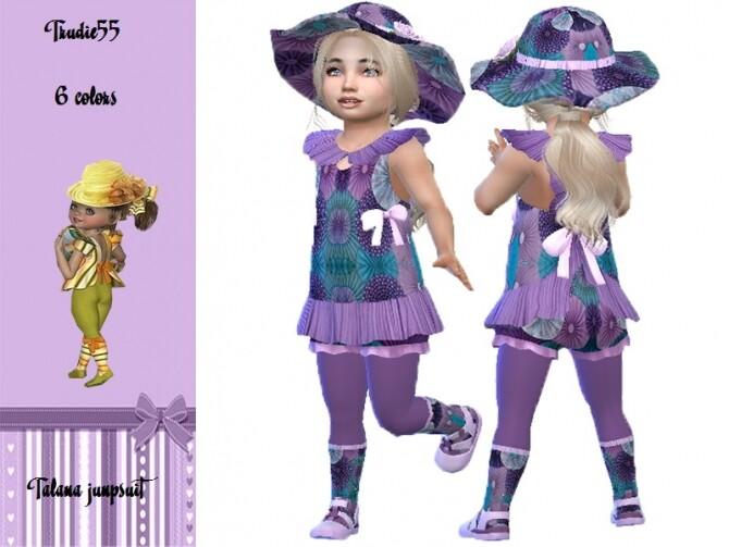 Sims 4 Talana jumpsuit by TrudieOpp at TSR