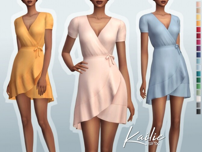 Sims 4 Kailie Dress by Sifix at TSR