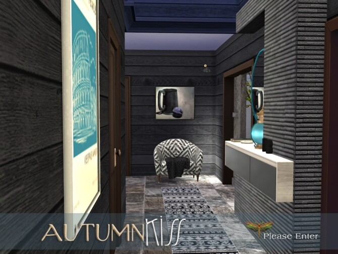 Sims 4 Autumn Kiss Hallway by fredbrenny at TSR