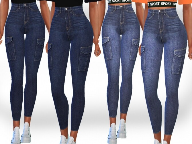 Sims 4 Female Side Pocket Skinny Fit Jeans by Saliwa at TSR