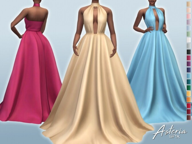 Sims 4 Asteria Dress by Sifix at TSR