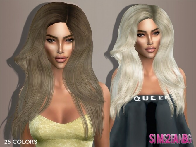 Sims 4 Hairstyle 5 Kylie by sims2fanbg at TSR