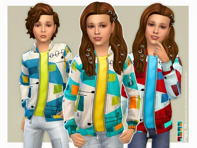 Maxime Jacket for Kids by lillka at TSR image 6313 670x503 Sims 4 Updates