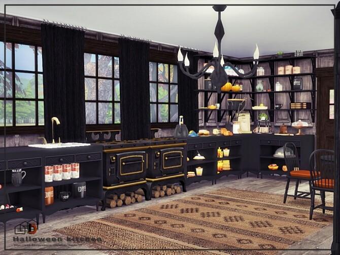 Sims 4 Halloween kitchen by Danuta720 at TSR