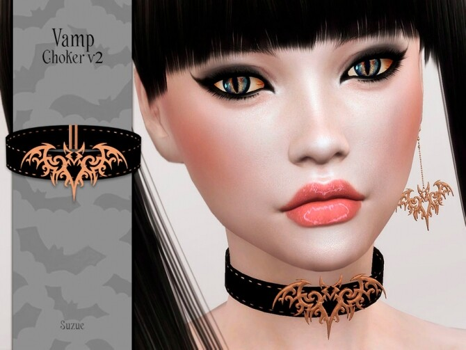 Vamp Choker V2 by Suzue at TSR image 6412 670x503 Sims 4 Updates