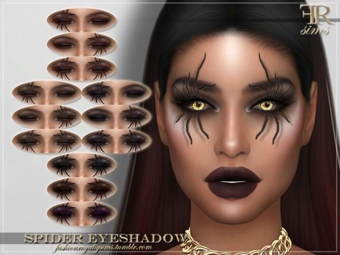 Sims 4 FRS Spider Eyeshadow by FashionRoyaltySims at TSR