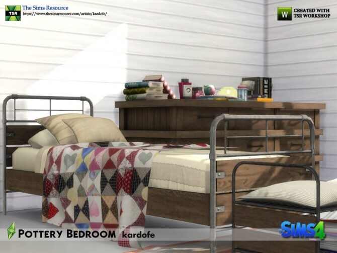 Pottery Bedroom by kardofe at TSR image 644 670x503 Sims 4 Updates