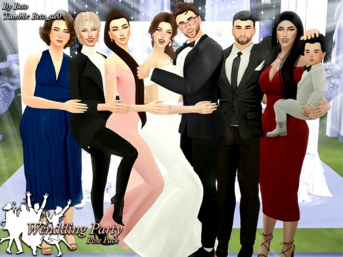 Sims 4 Wedding Party II Pose Pack by Beto ae0 at TSR