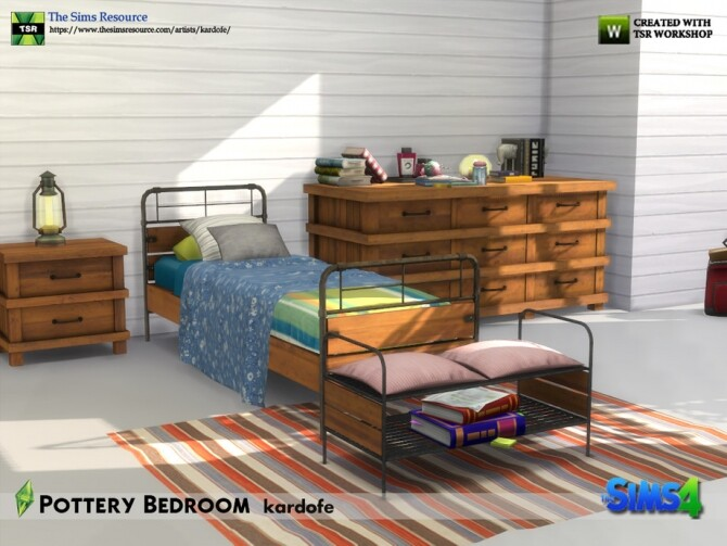 Pottery Bedroom by kardofe at TSR image 655 670x503 Sims 4 Updates