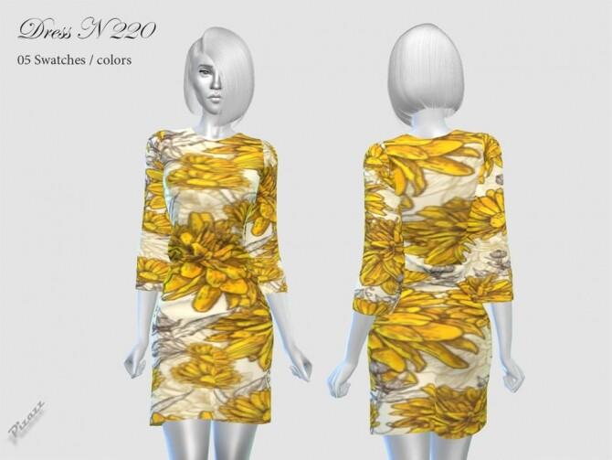 Sims 4 DRESS N 220 by pizazz at TSR