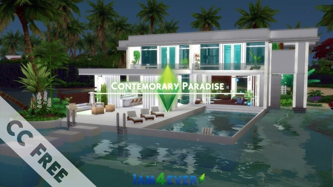 Contemporary Paradise House by Iam4ever at MTS image 66 670x377 Sims 4 Updates