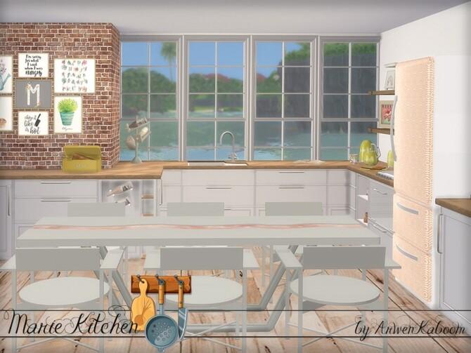 Marie Kitchen by ArwenKaboom at TSR image 6610 670x503 Sims 4 Updates